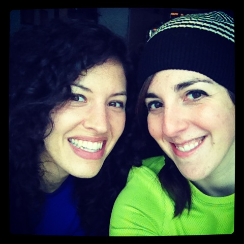 Rhi, my badass domestic life partner and a true OG, the morning before our ski adventure began.