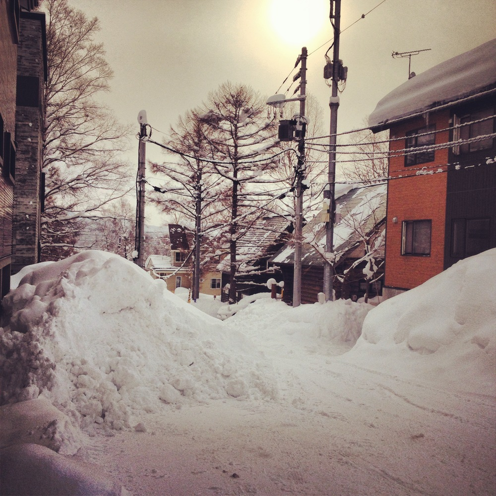 A typical morning in Niseko had me wondering why Marylanders lose their shit over a couple inches.