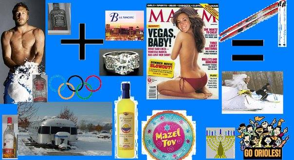 If you know me, you probably know that I interned at Maxim in college. But did you know I was also once on the cover? And after that Bode and I had a Jewish wedding on skis complete with limoncello, and then became clip art Orioles fans, happily ever after. <3