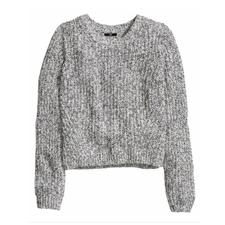 Rib-knit Top in Gray