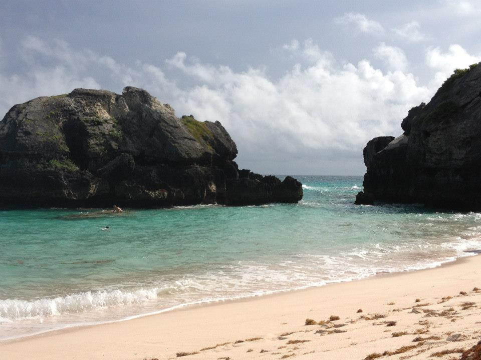 I don't have a picture from snorkeling, so here is a picture of one of the many beautiful hidden beaches my friends Stephanie, Subway, Sabrina, and I found in Bermuda on my second trip there.