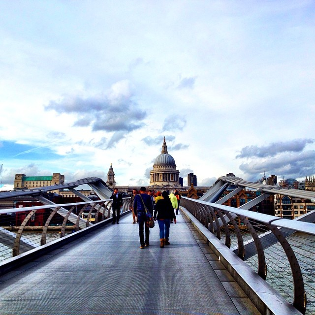 Walking across the Millennium Bridge