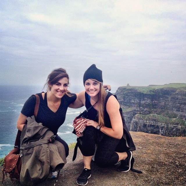 Jetlag hags on a cliff.