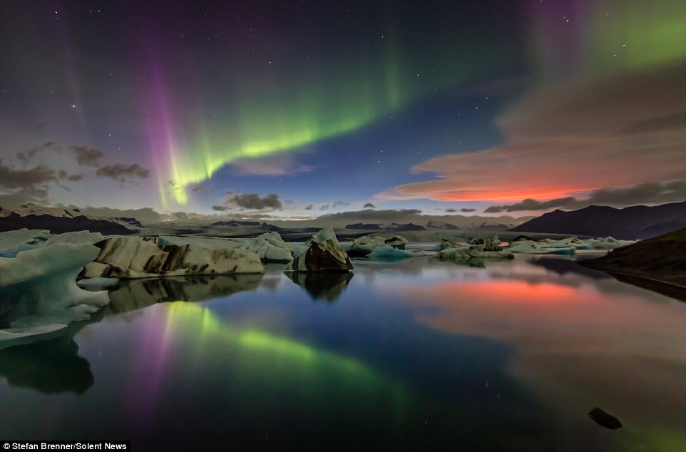 Tuesday night's Northern Lights courtesy of the Daily Mail