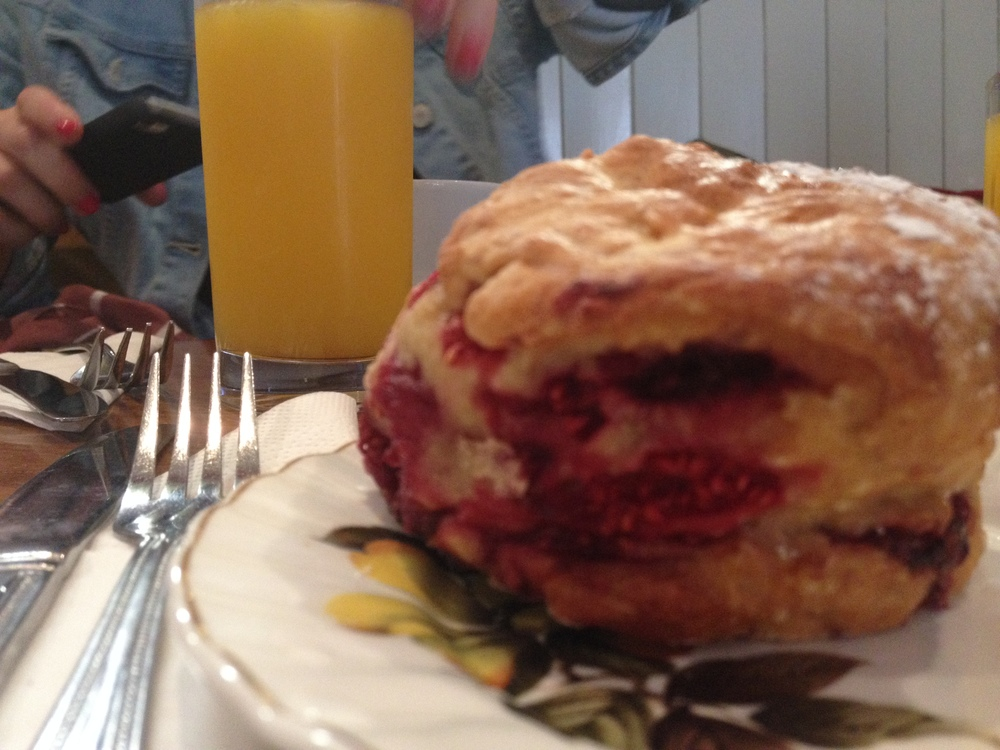 The raspberry scone of my dreams.