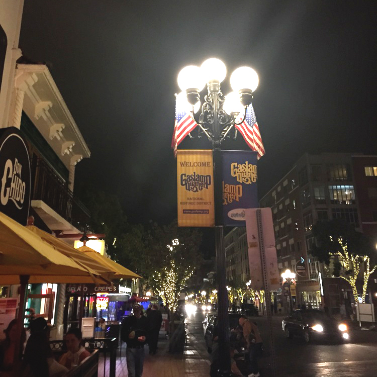 Watch out, pedestrians of the Gaslamp Quarter.