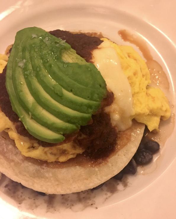 Rancheros scramble...just look at that avocado! Drool.