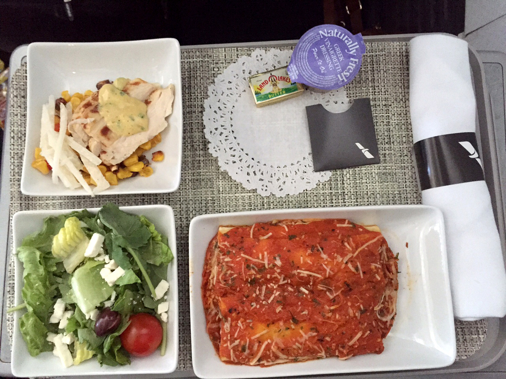 Real food on a plane?