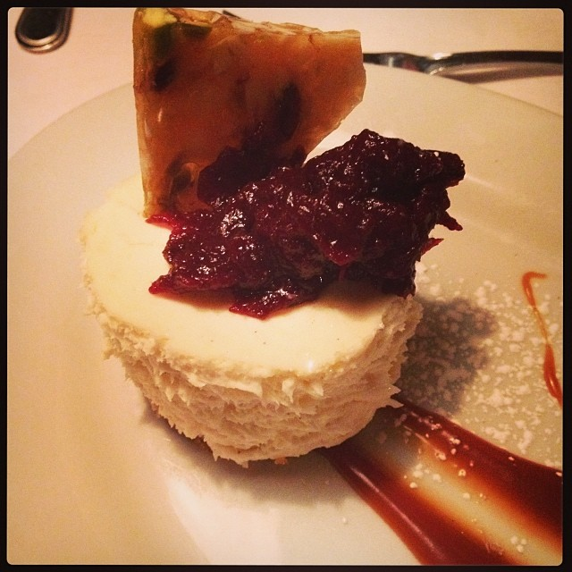 This is a goat cheese cheesecake. I MEAN....