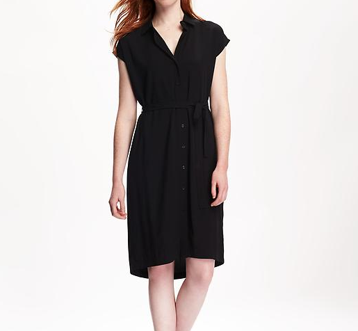 Dolman Sleeve Shirt Dress