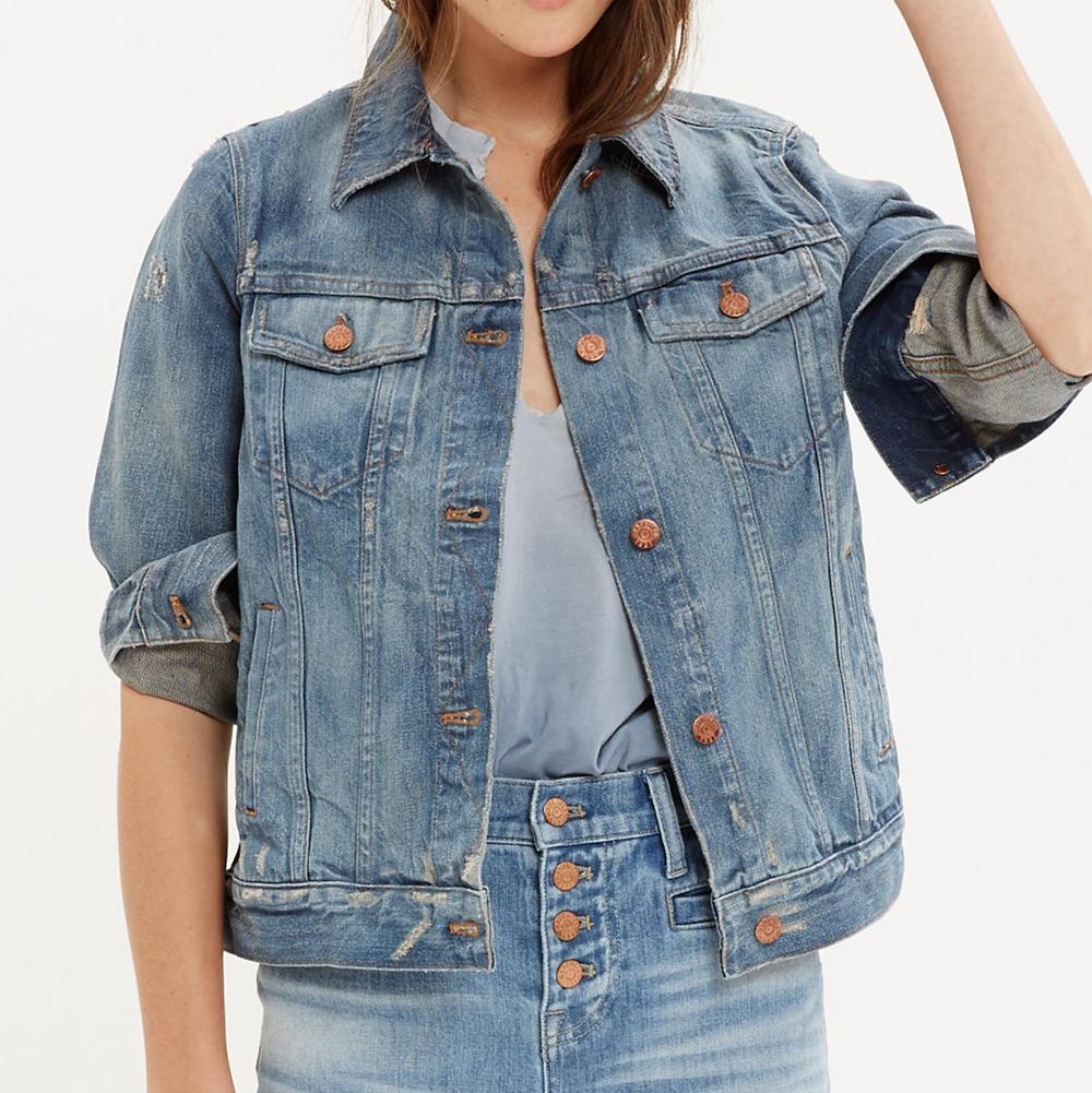 Jean jacket in ellery wash