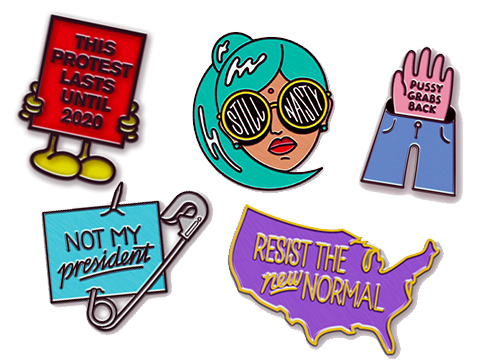 You can buy these pins and many other equally amazing ones  here . All profits go to charity.