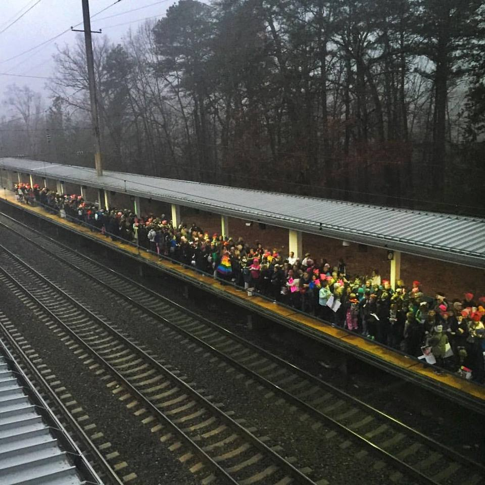 We couldn't even get onto the platform.
