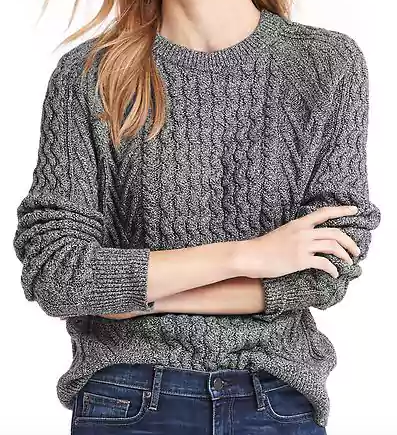 Wavy Cable Knit Sweater