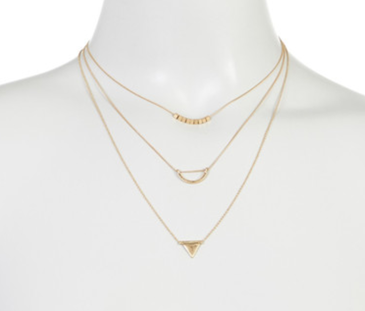 Melrose and Market Delicate Geo Pendant Necklace Set