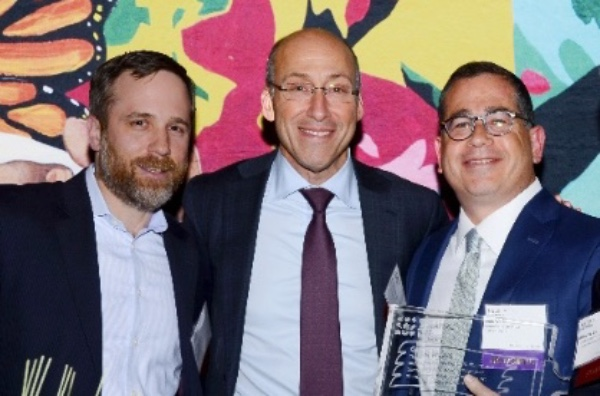 CAW Board Chairman and President  Andrew Levin , Board Member  Neil Goldmacher , and 2017 Honoree  Glen Weiss .