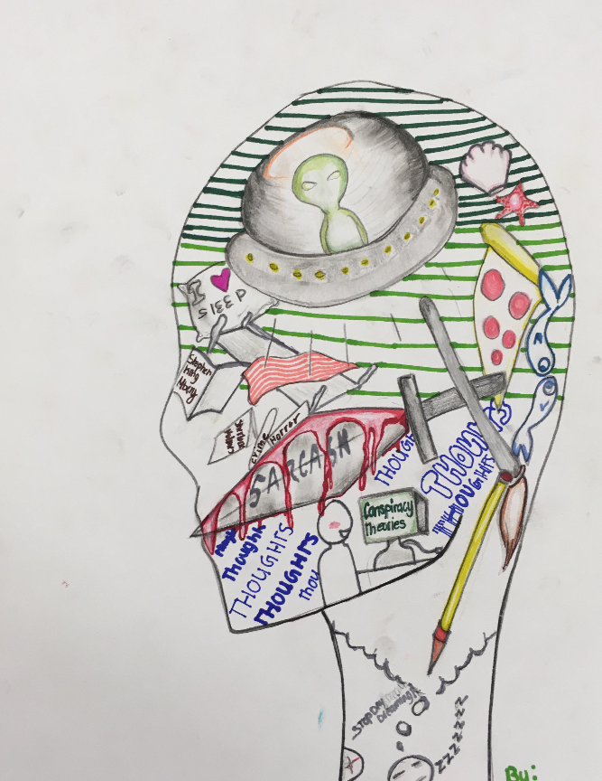 Symbolic self-portrait inspired by by APRCHS student.