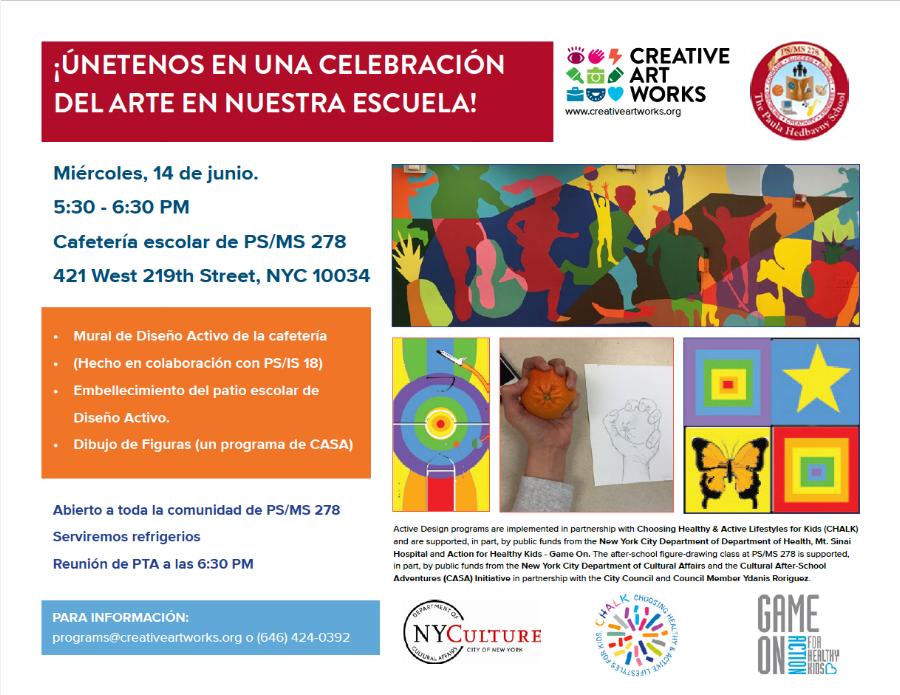 Culminating Event Flyer, Spanish Language
