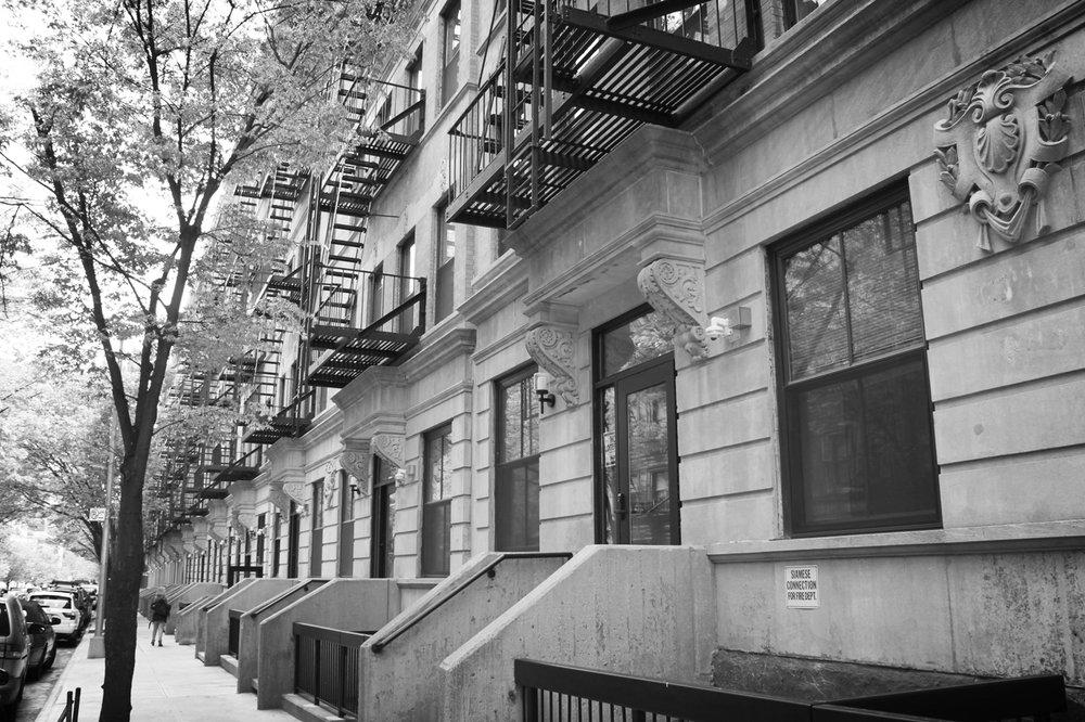 Randolph Houses, looking East on 114th Street