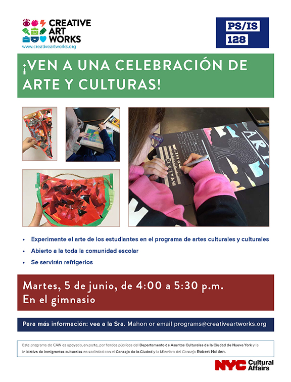 Culminating Event Flyer in Spanish