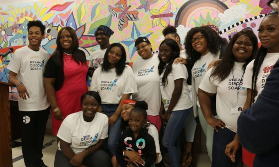 CAW Youth Apprentices with NYC Council Member Vanessa Gibson