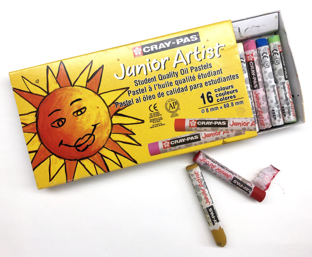 Oil Pastels cover large areas and can be blended