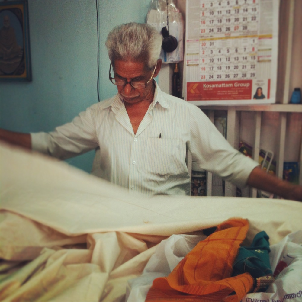 """Old Assam"", in his small workshop in Varkala, India."