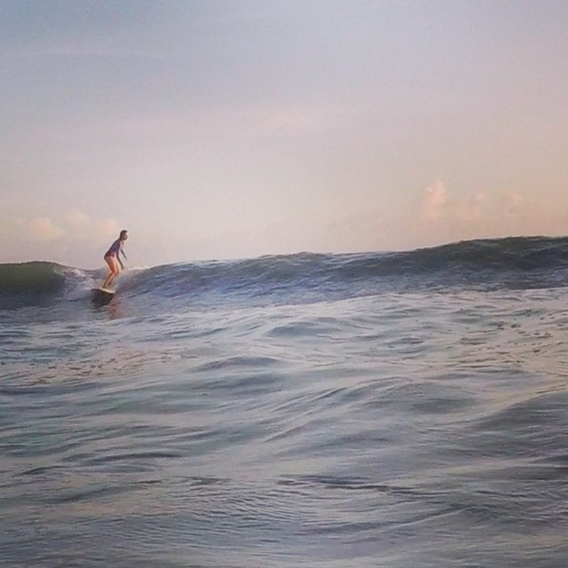 Surfing in Weligama. Afternoon delights.