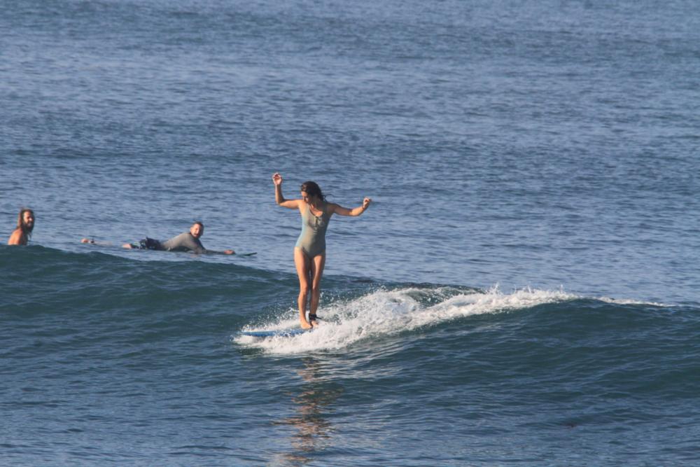 Longboarding in Bali