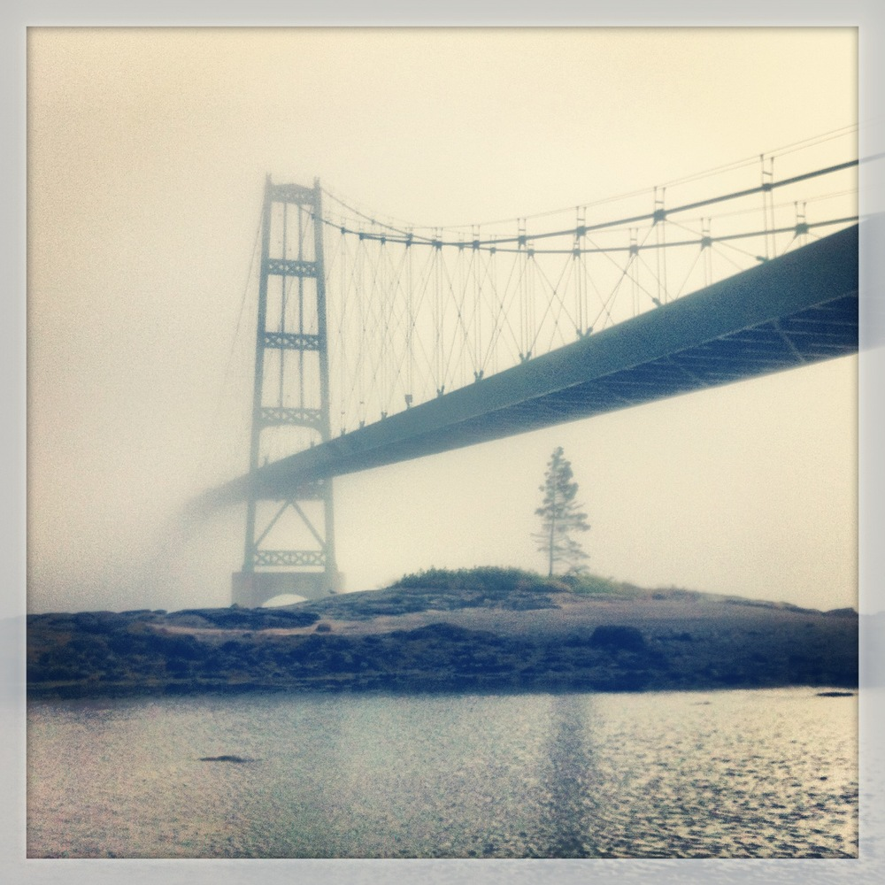Fog Shrouding the Little Deer Isle Bridge, July 2013