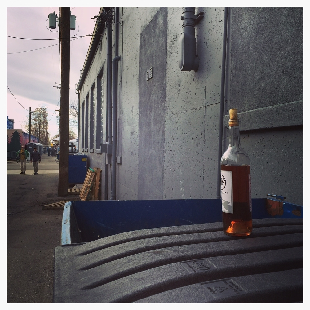 Lonely dumpster wine spotted at Treefort.