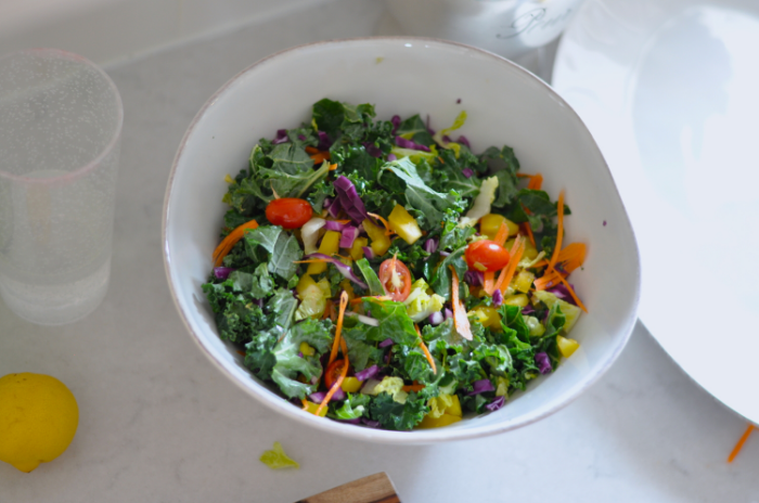 Rainbow Kale Salad | Erin Stanczyk  | Lifestyle Design | eat.move.rest.