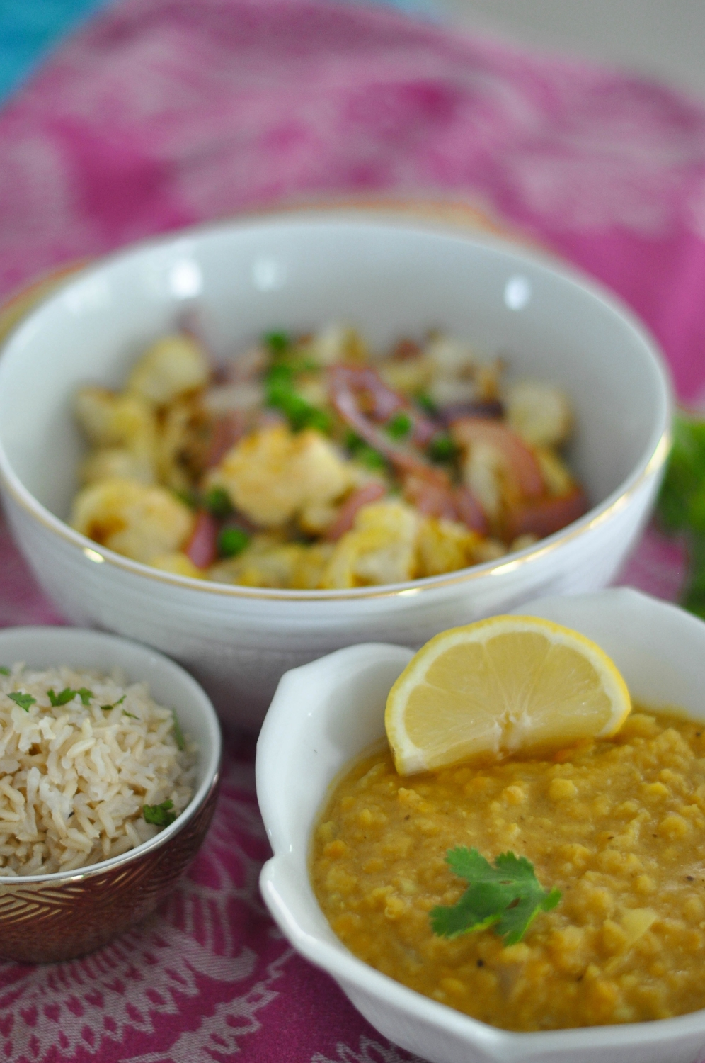 Erin Stanczyk | Lifestyle Design | eat.move.rest. | INDIAN RED LENTIL DAL + CURRY ROASTED CAULIFLOWER W/ BROWN RICE