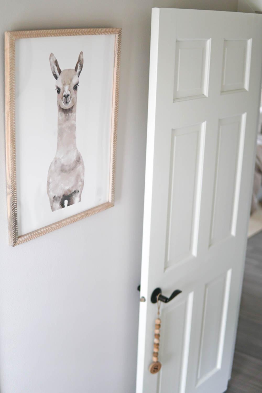 Erin Stanczyk | EatMoveRest Baby Nursery | Minted Custom-Framed Alpaca Print
