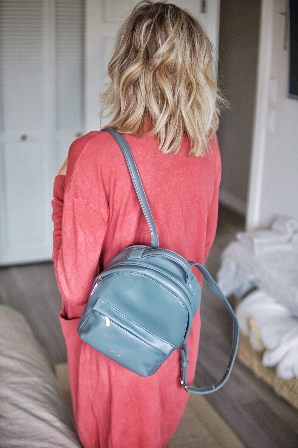 Matt + Nat Vegan Leather Mini Backpack
