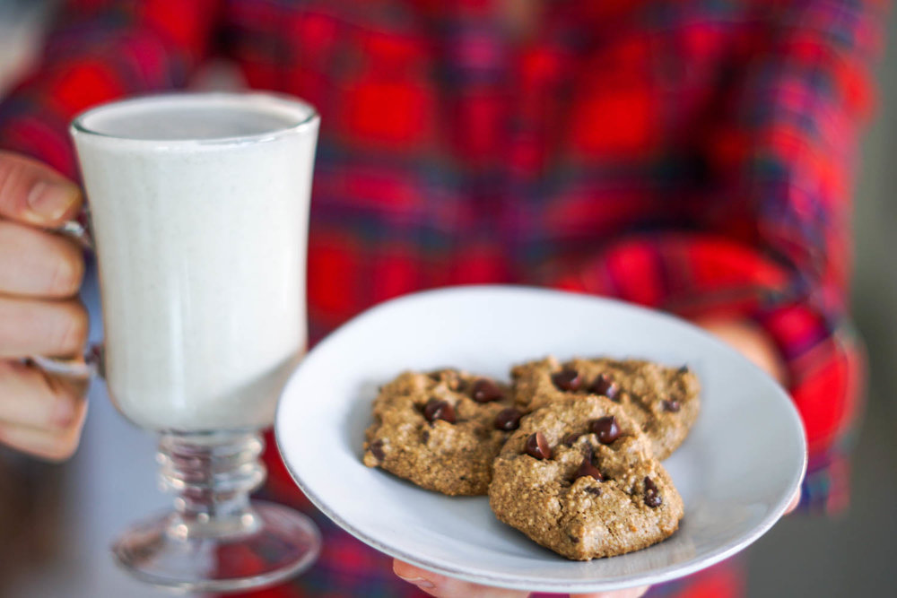EatMoveRest.com | Erin Stanczyk | Vegan Chocolate Chip Cookies & Dairy-Free Milk