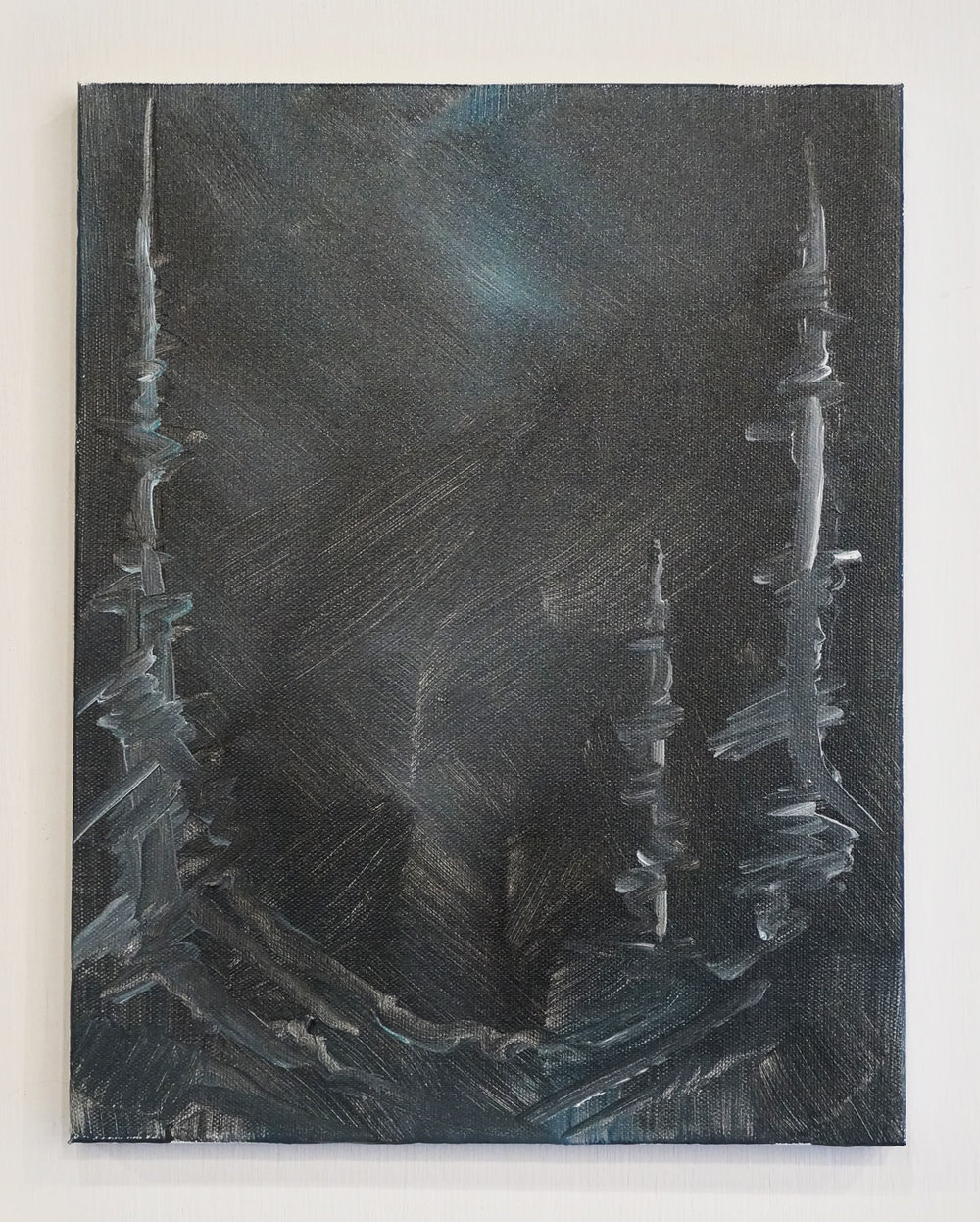 Tomorrow in a Year, 2017, acrylic on canvas, 14 x 11in