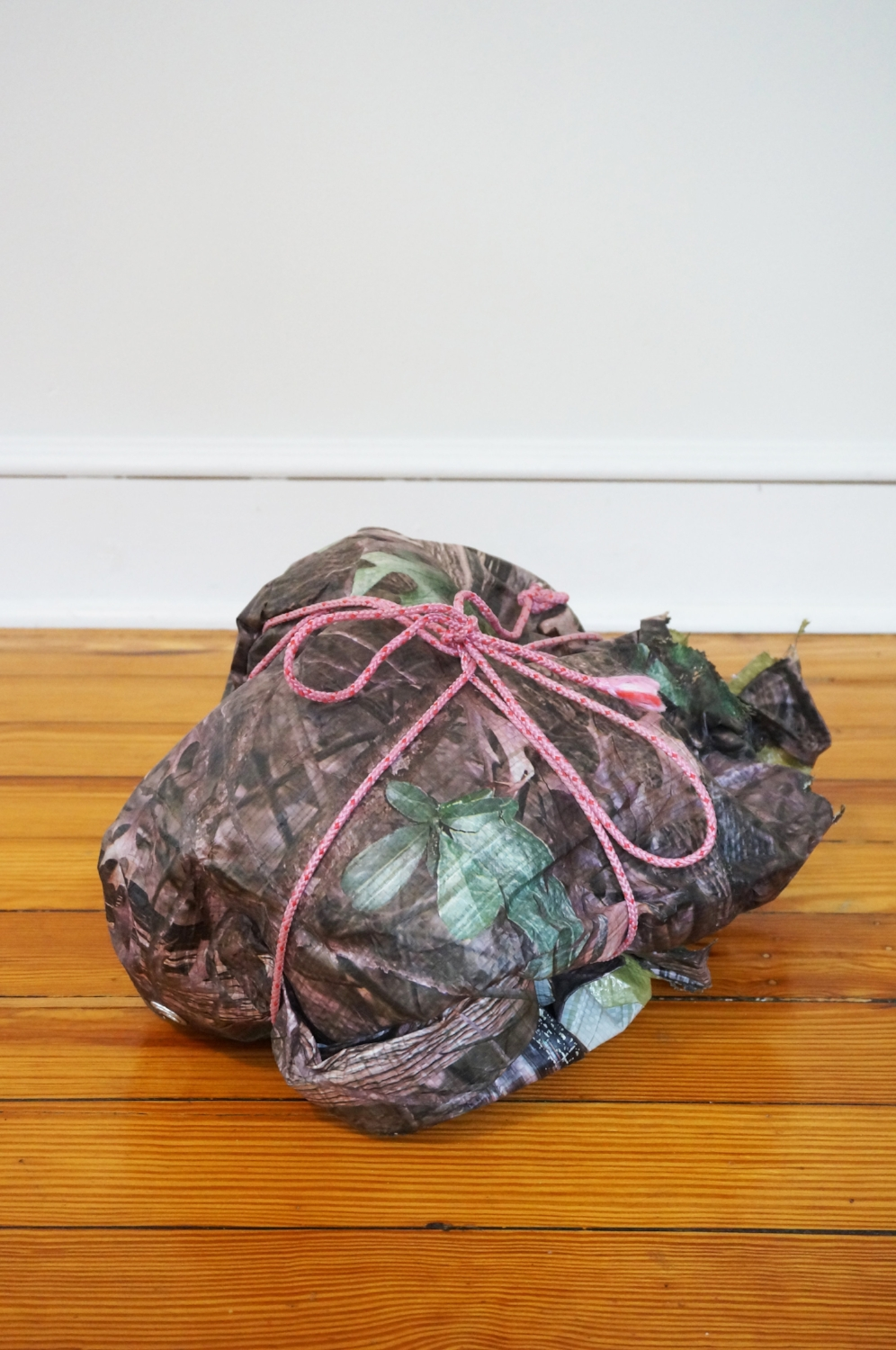 Package from Ted Kaczynski, 2018, tarp, rope, 9 x 13 x 12in