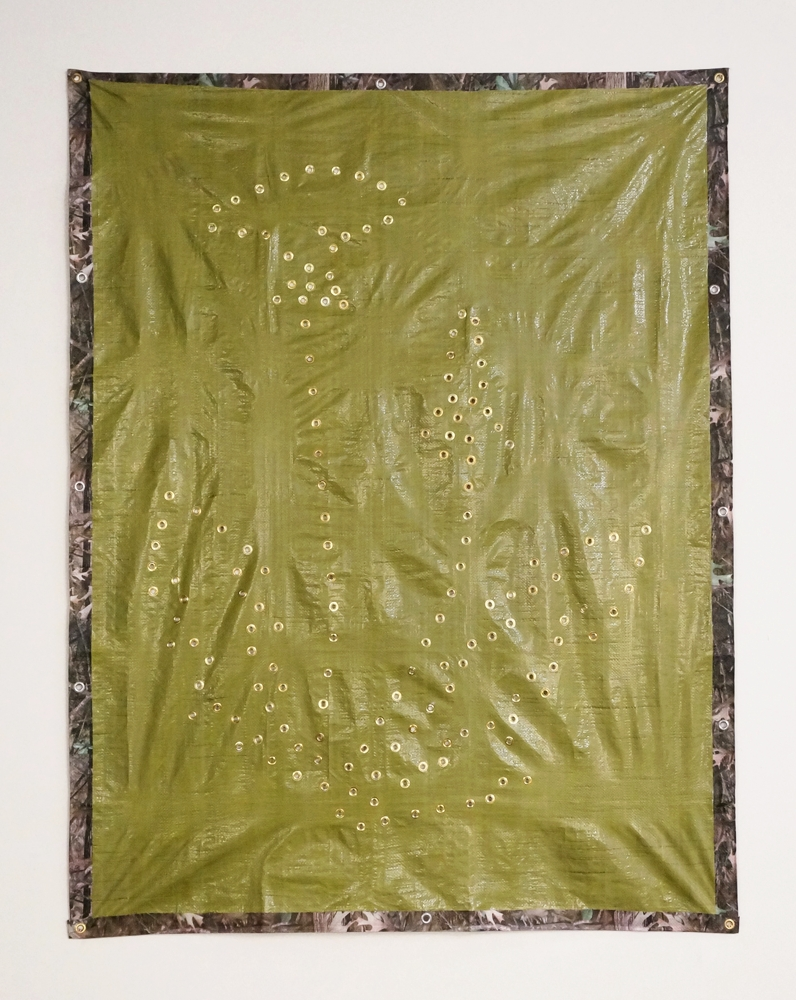 Common Dandelion, 2016, Tarp, Grommets, 2016, 84 x 60in