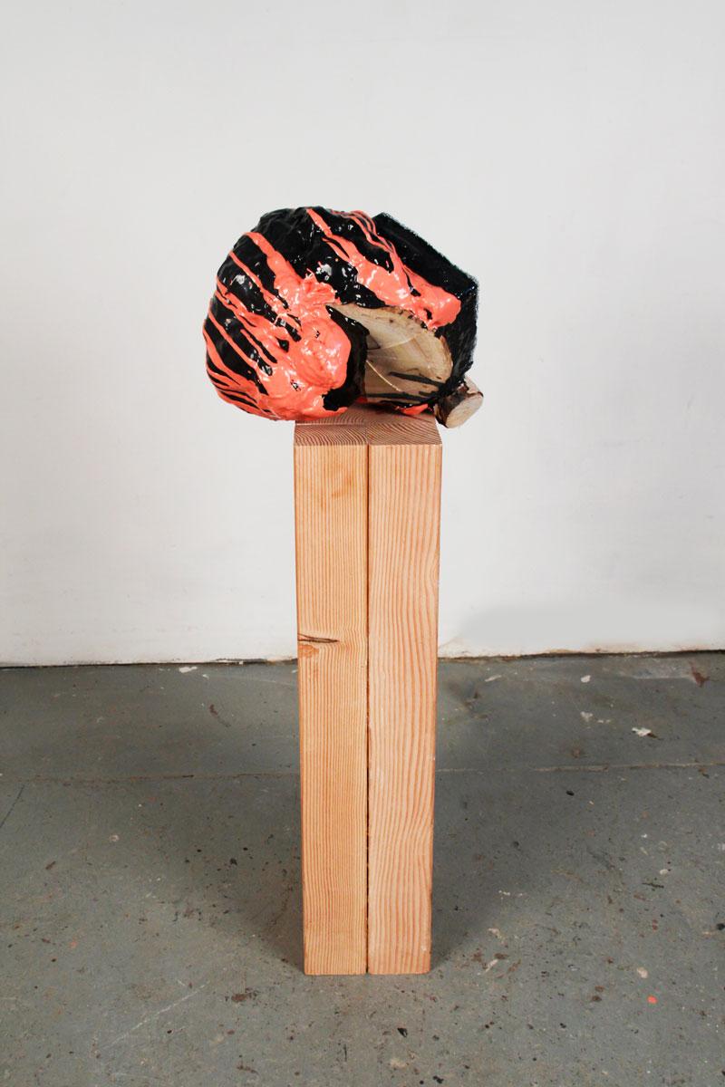 Dormant Bud, 2012, resin, foam, wood, 43 x 12 x 13in