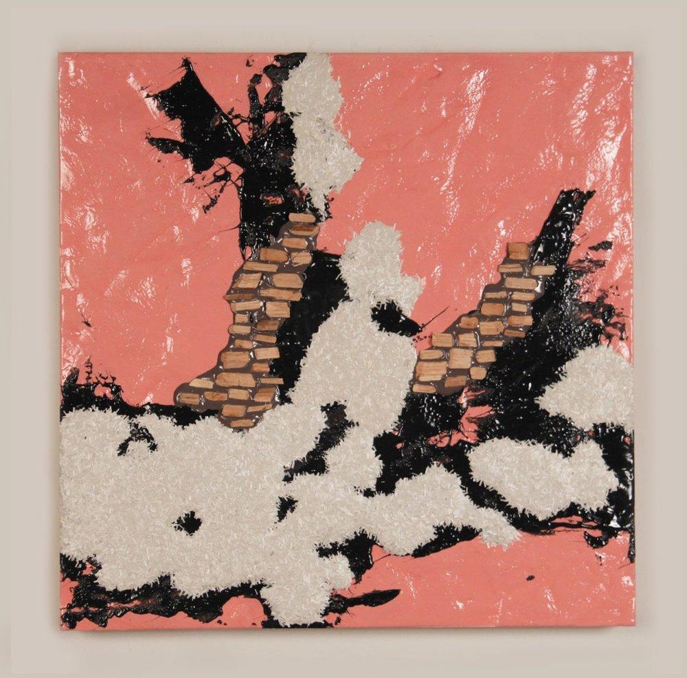 Forest Floor, 2011, resin, fiberglass, wood, 34 x 24in