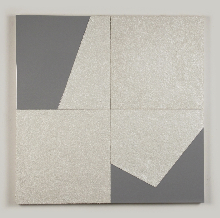 Polygon Dormancy, 2011, resin, fiberglass on panel, 48 x 48in