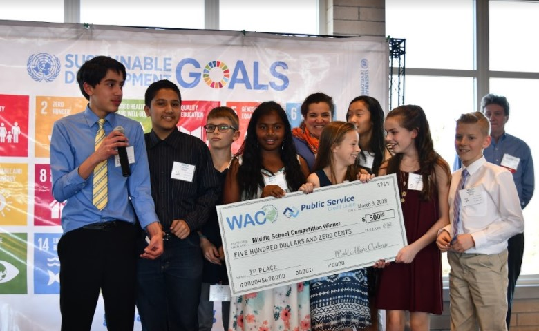 1st Place Winner:  Hulstrom Middle School  Team:  www.2018  Topic:  Water Quality - Demonstrated importance of water quality and availability in remote parts of the world.