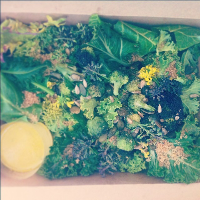 A few offices are taking part in our spring pilot -we are busy designing them delicious spring salads #pilot2015officesonly #eat #bloomboxsalads