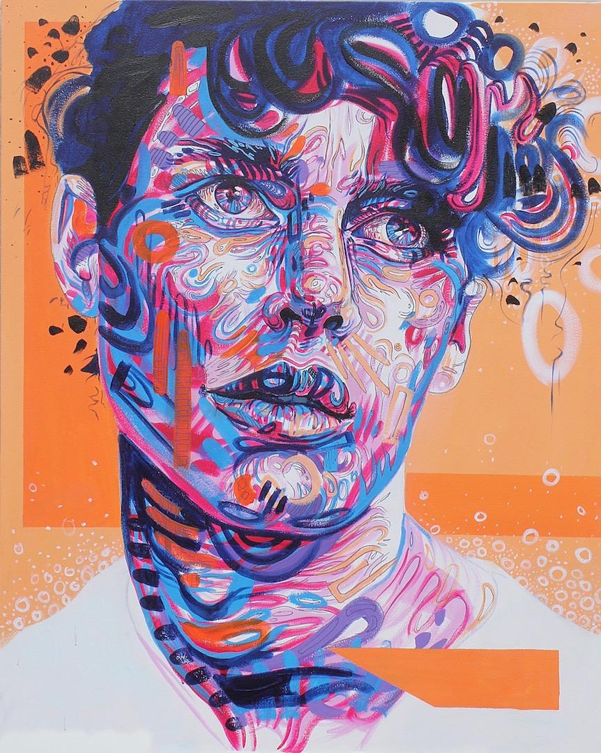 #eccentric, acrylic on canvas