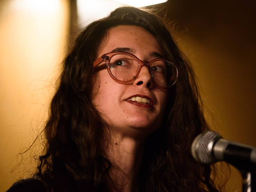 Cassandra - Poetry Reader - Cassandra de Alba is a poet living in Massachusetts. Her chapbooks habitats (Horse Less Press, 2016) and ORB (Reality Hands, 2018) are about deer and the moon, respectively, and her work has appeared in The Shallow Ends, Glass: A Journal of Poetry, Underblong, and Big Lucks, among other publications. She is a co-host at the Boston Poetry Slam at the Cantab Lounge and an associate editor at Pizza Pi Press. One day she hopes to write a poem as good as the movie Twister (1996).Photo credit: Marshall Goff