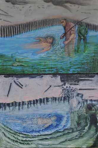"Title: "" A Shadow / Beneath The Surface""  Bonnie's (Bottom), Susan's (Top)"