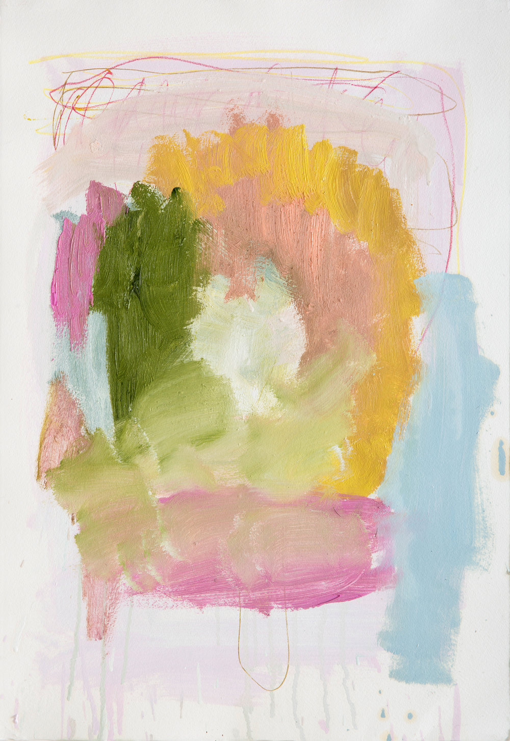 "Sabine Tress—""Emma""   Oils and crayons on paper. 57cm × 39cm. 2014."