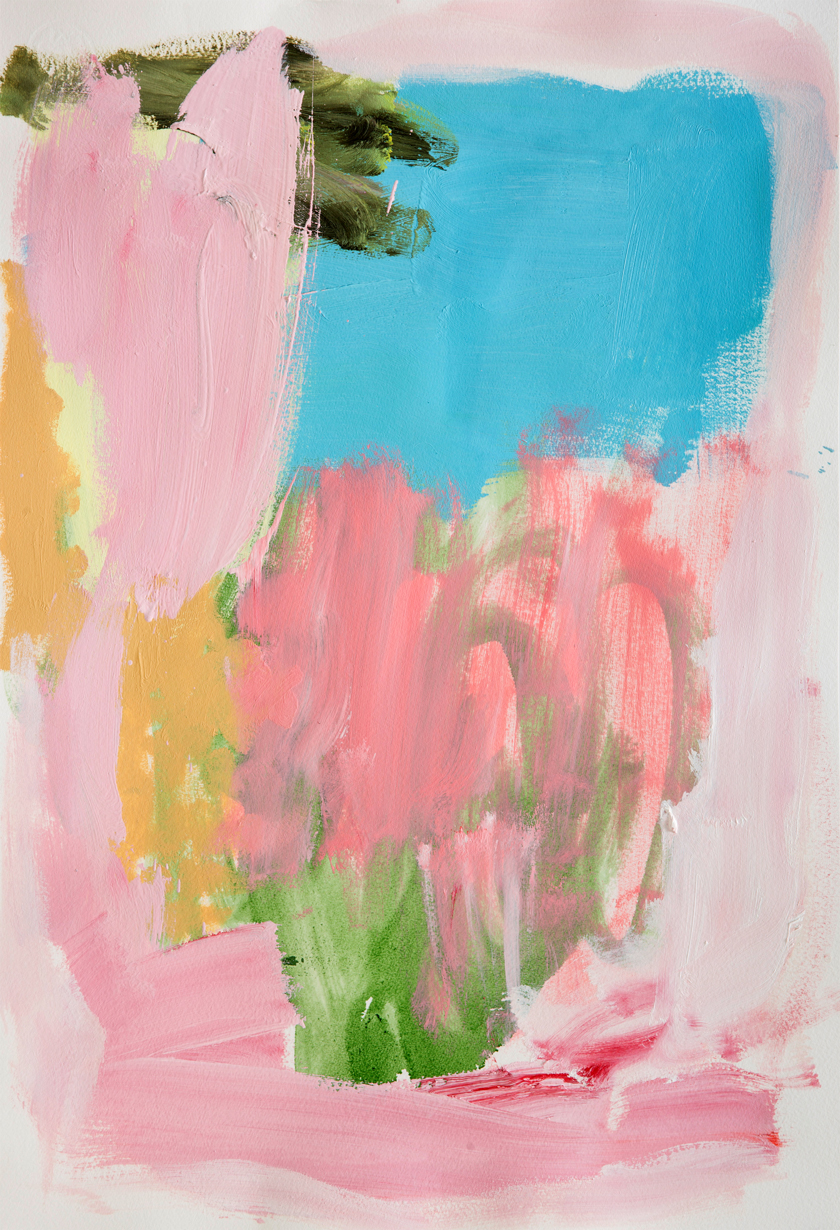 "Sabine Tress—""Tata""   Oils on paper. 57cm × 39cm. 2015."