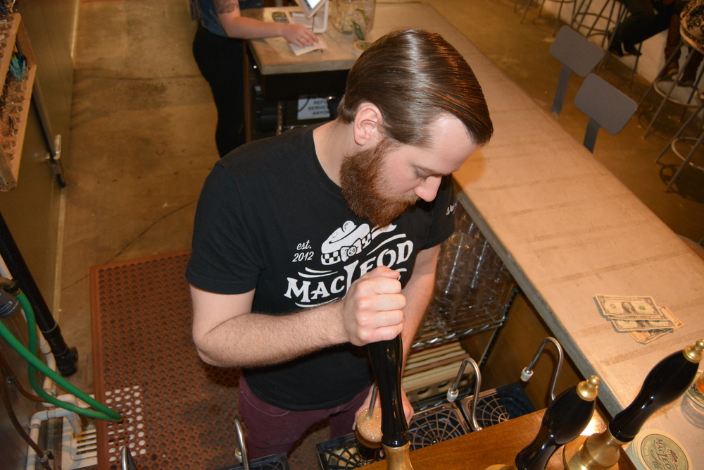 Tasting room manager, Stephen Reeves, has spent the last eight months pouring beers for the MacLeod Ale Brewing Co. in the city of Van Nuys. Photo: Lauren Holmes